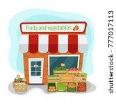 vector illustration of fruits... | Shutterstock .eps vector #777017113