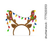 christmas mask with brown... | Shutterstock .eps vector #777020353