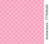 little mermaid seamless pattern.... | Shutterstock .eps vector #777028183