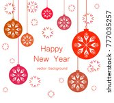 new year vector greeting card ... | Shutterstock .eps vector #777035257