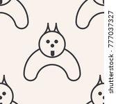doggy. seamless pattern. symbol ...