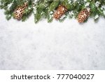 christmas background. christmas ... | Shutterstock . vector #777040027