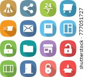 flat vector icon set   share... | Shutterstock .eps vector #777051727