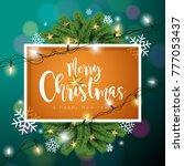 merry christmas illustration on ... | Shutterstock . vector #777053437