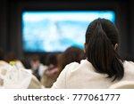 back of businesswomen sitting...   Shutterstock . vector #777061777