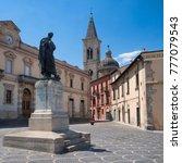 Small photo of Sulmona (L'Aquila, Abruzzi, Italy): historic buildings along corso Ovidio