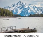 jackson lake in the grand... | Shutterstock . vector #777081073