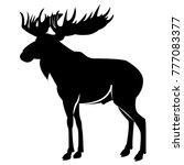 vector image of elk silhouette   Shutterstock .eps vector #777083377