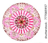 round abstract mandala   Shutterstock . vector #777085957
