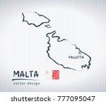 malta national vector drawing... | Shutterstock .eps vector #777095047