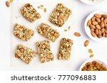 healthy granola bar. natural... | Shutterstock . vector #777096883