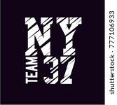 new york  denim print apparel... | Shutterstock .eps vector #777106933