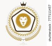 luxury heraldic vector emblem... | Shutterstock .eps vector #777111457