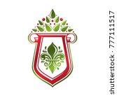 vintage heraldic emblem created ... | Shutterstock .eps vector #777111517