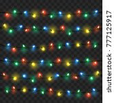 glowing lights for xmas holiday ... | Shutterstock .eps vector #777125917
