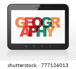 studying concept  tablet pc...   Shutterstock . vector #777126013