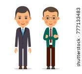 young business man. businessman ... | Shutterstock .eps vector #777133483