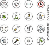 line vector icon set   angel... | Shutterstock .eps vector #777135433