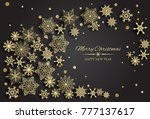 vector merry christmas and... | Shutterstock .eps vector #777137617