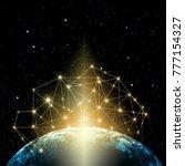 earth from space. best internet ...   Shutterstock . vector #777154327