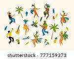 brazil carnival. vector... | Shutterstock .eps vector #777159373