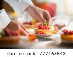 close up on the hands of the... | Shutterstock . vector #777163843