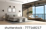 large master bedroom of an... | Shutterstock . vector #777168217