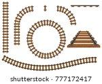 Railway  A Set Of Railroad...