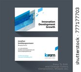 vector business card template... | Shutterstock .eps vector #777177703