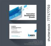 vector business card template... | Shutterstock .eps vector #777177703