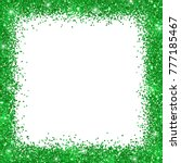 green border frame  green... | Shutterstock .eps vector #777185467