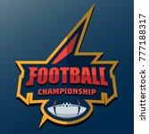 american football logo template....   Shutterstock .eps vector #777188317
