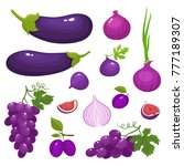 vector illustration with violet ... | Shutterstock .eps vector #777189307