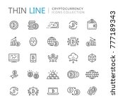 collection of cryptocurrency... | Shutterstock .eps vector #777189343