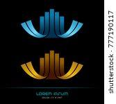 emblem ribbon company  hi tech... | Shutterstock .eps vector #777190117
