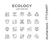 set line icons of ecology | Shutterstock .eps vector #777194497