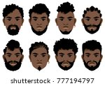set of black mens faces with...