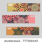 ethnic banners template with... | Shutterstock .eps vector #777200143