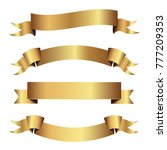 set of golden ribbons vector. | Shutterstock .eps vector #777209353