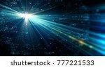 data transmission channel.... | Shutterstock . vector #777221533