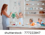 mother of many children and... | Shutterstock . vector #777222847