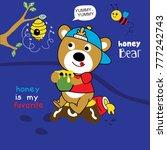honey bear cartoon vector    Shutterstock .eps vector #777242743