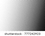 grunge halftone background.... | Shutterstock .eps vector #777242923