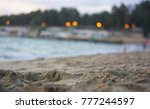 the beach and the sand | Shutterstock . vector #777244597