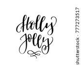 christmas lettering and... | Shutterstock .eps vector #777273517