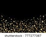 gold stars confetti celebration ...   Shutterstock . vector #777277387