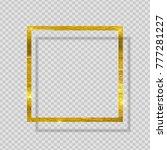 gold paint glittering textured...   Shutterstock .eps vector #777281227