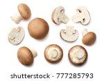 fresh champignon mushrooms... | Shutterstock . vector #777285793