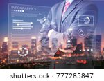 businessman and high... | Shutterstock . vector #777285847