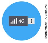 portable usb 4g modem icon... | Shutterstock .eps vector #777286393